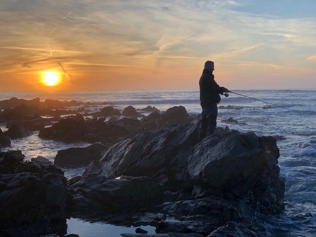 Robin Bradley Fishing Guernsey Sunset